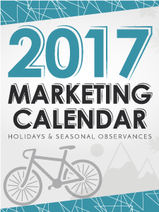 2017 Marketing Holidays Calendar Free Download.