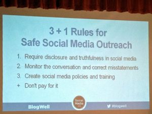 Rules for safe social media outreach