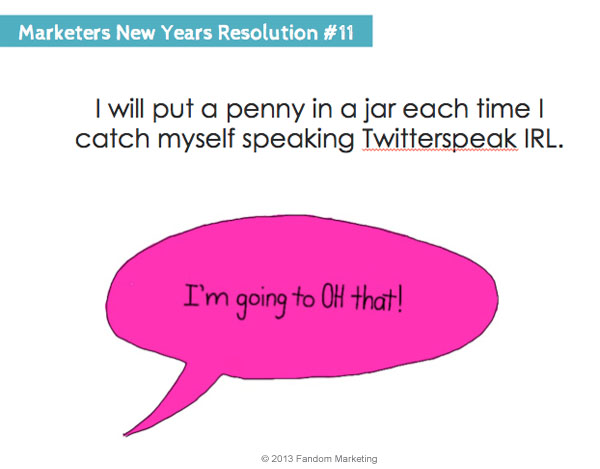 marketers new years resolution 11