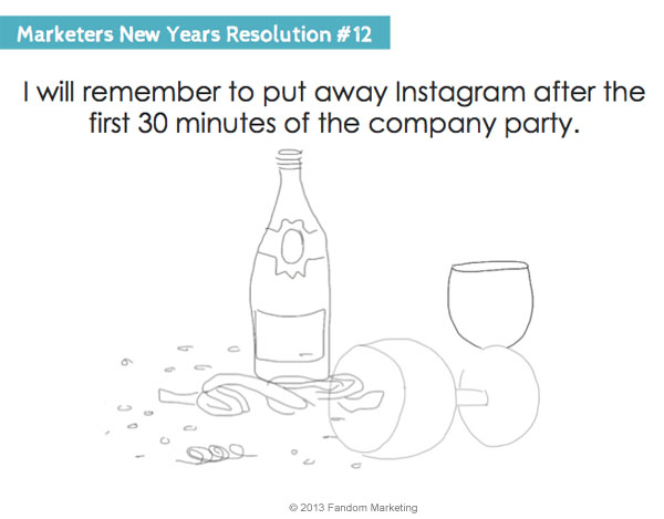 marketers new years resolution 12