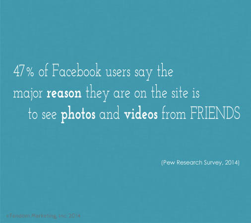 Why do people use Facebook? Click for more social media stats.