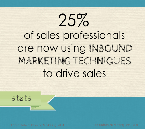 Fandom stats poster_sales professionals are now using inbound marketing techniques