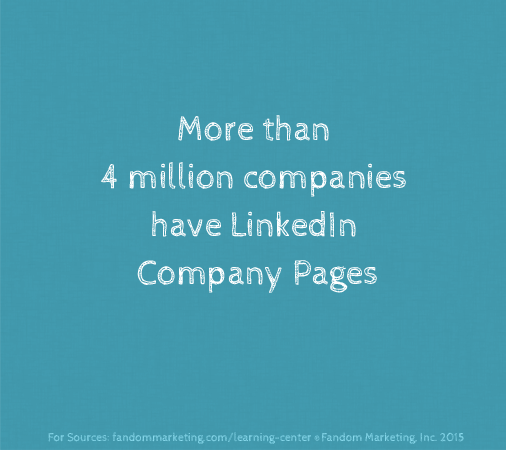 Number of companies with LinkedIn pages